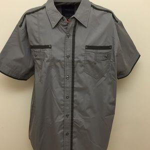 Army Green Short Sleeve Button Up Shirt SZ XXL